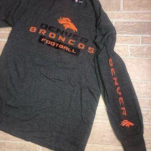 Men's Denver Broncos Medium Long Sleeve Gray